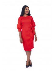 Ladies Wrap Midi Dress