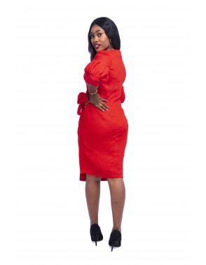 Ladies Wrap Midi Dress