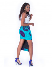 Ankara Skirt With Overlapping Layers