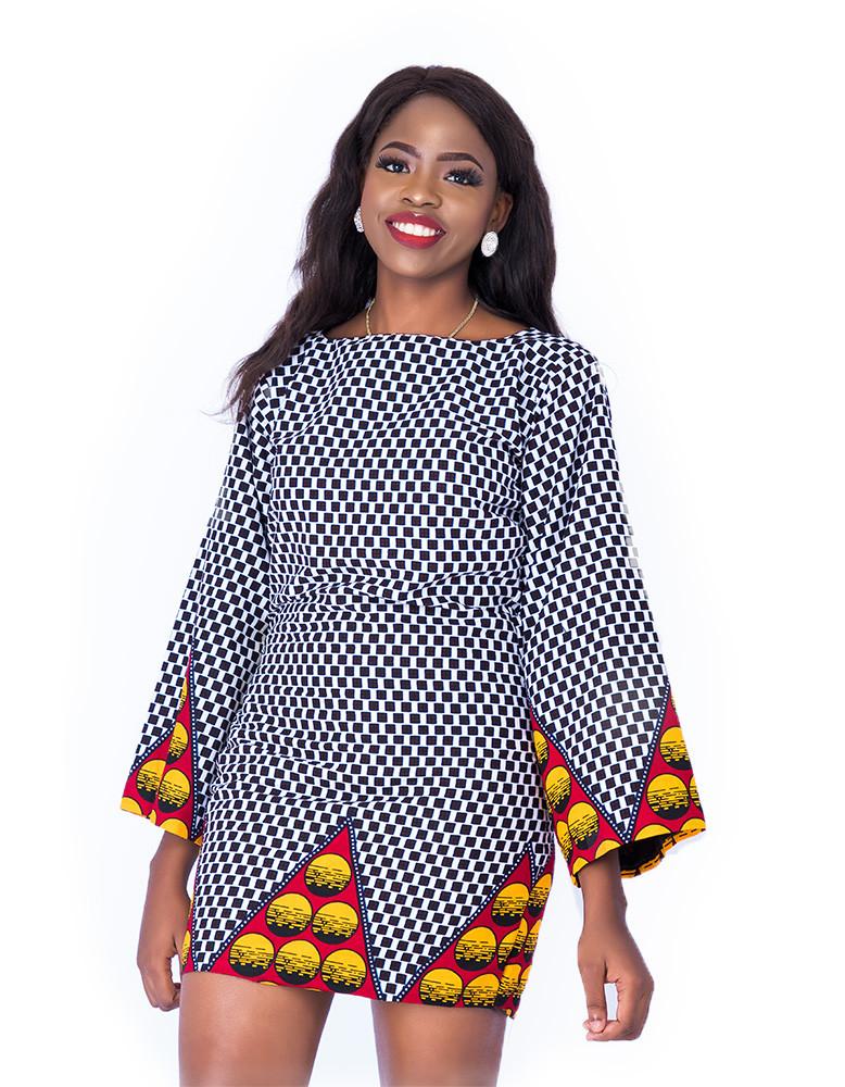 Aladuke Dress With Wide Sleeves