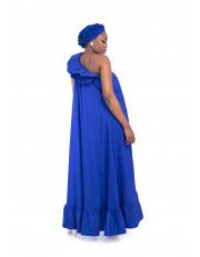 Asymmetric Neck Maxi Dress