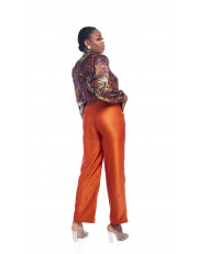 Silk Adire Shirt and Trouser