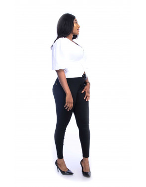 MIDE's Wrap Top with Puff sleeve