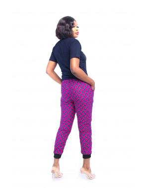 Ankara Cropped Pants & Tee Set