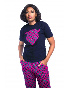 Ankara Cropped Pants & Tee Set