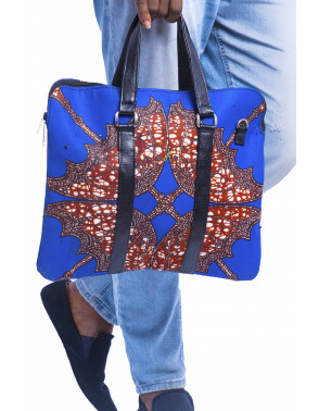 Flat Ankara Laptop Bag