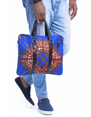 Flat Ankara Laptop Bag
