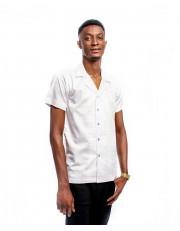 Omal Polka Dot Lapel Collar Shirt