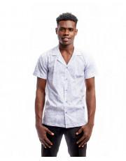 Omal Linen Lapel Collar Shirt