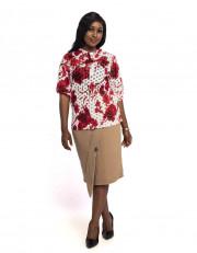 Ladies Pattern Mix Blouse