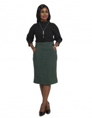 Ladies Striped Skirt With Side Pockets
