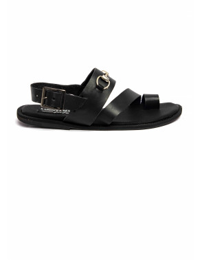 Leather Sandals With Silver Chain