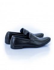 Formal Slip On Shoes With Belt Detail - Black